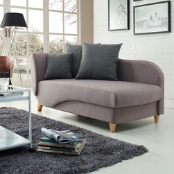 Sirio - Lilac Sleeper Sofa with Push Down Back - This highly stylish sofa bed combines looks,function and highest quality materials. With its double cushion design and wooden legs,it will upgrade the look of your space. It even folds to become a bed for your friends or family.
