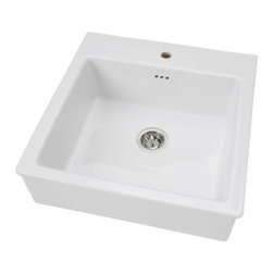 DOMSJÖ Sink bowl by IKEA - As you can expect from Ikea, this sink fits nicely in strapped budgets. The farm style is an unexpected gem from the Scandinavian furniture giant.