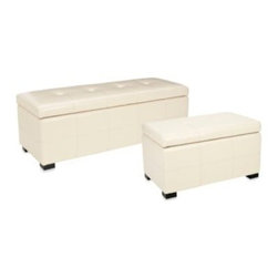 Safavieh - Safavieh Maiden Storage Bench in Cream - A sleek, transitional design that adds the right touch of style and function makes the Maiden storage bench a wonderful accent piece.
