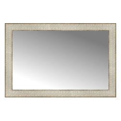 "Posters 2 Prints, LLC - 27"" x 18"" Libretto Antique Silver Custom Framed Mirror - 27"" x 18"" Custom Framed Mirror made by Posters 2 Prints. Standard glass with unrivaled selection of crafted mirror frames.  Protected with category II safety backing to keep glass fragments together should the mirror be accidentally broken.  Safe arrival guaranteed.  Made in the United States of America"