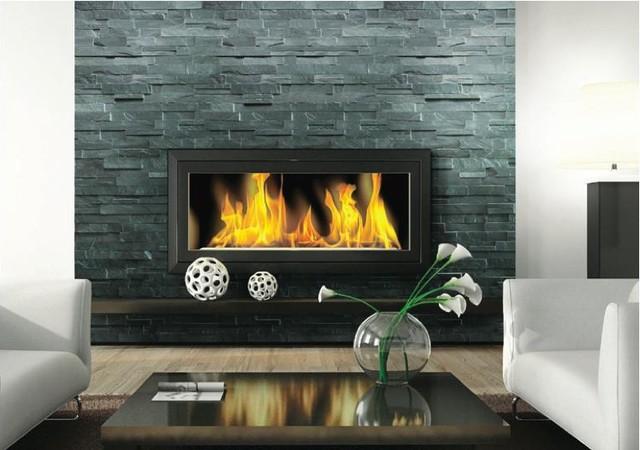 Fireplace LedgestoneStacked Stone Slate Traditional