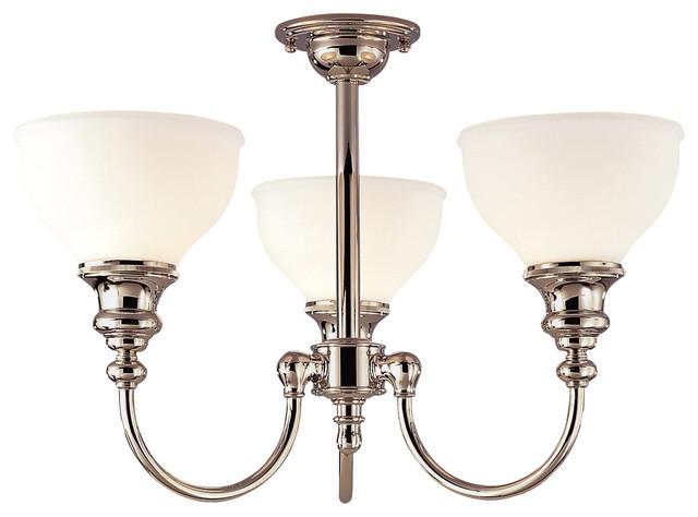 Hudson Valley 5913F-PN Sutton Polished Nickel Flush Mount contemporary-flush-mount-ceiling-lighting