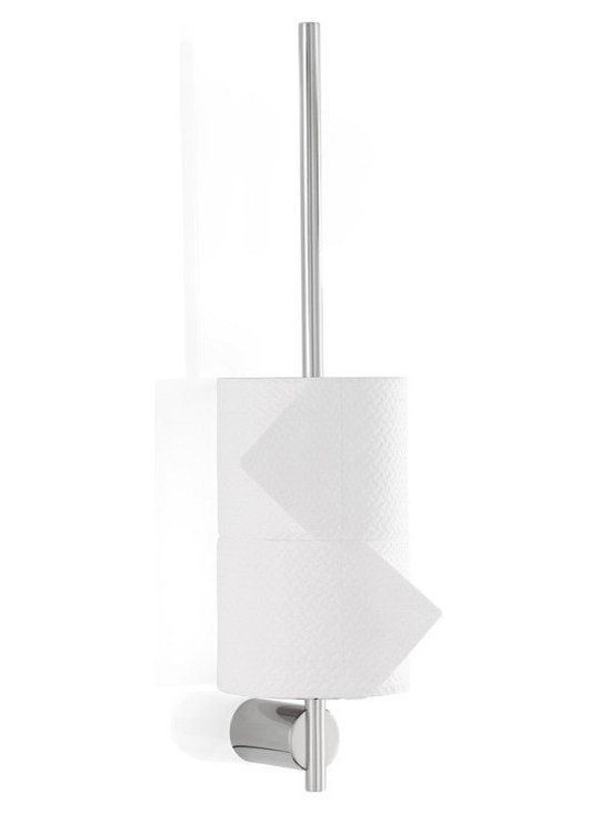 "Blomus - Duo Toilet Paper Pole, Polished - Stainless steel. Available with a polished or matte finish and includes a mounting kit.Depth to wall: 3.2"" Diameter of mounted cylinder: 1.2"""