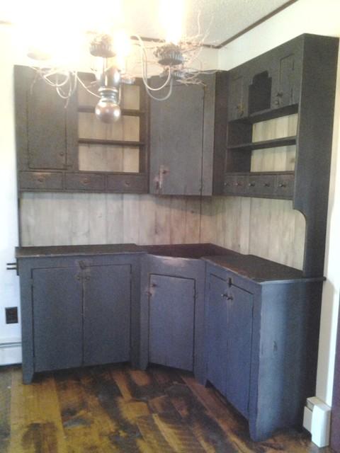 Primitive Pantry farmhouse-pantry-cabinets