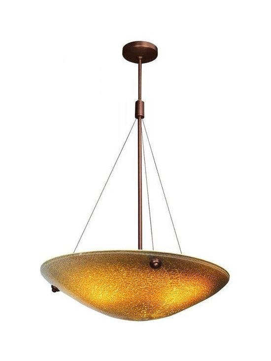 Access Lighting 23203-BRZ/AMZ Four Light Bronze Down Pendant -