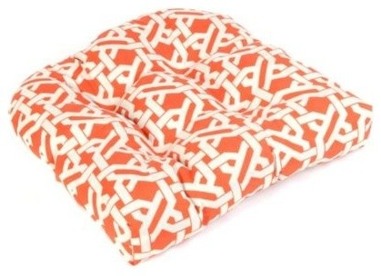 Orange Geometric Outdoor Cushion contemporary-outdoor-chairs
