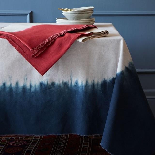 Dip-Dye Tablecloth - Contemporary - Tablecloths