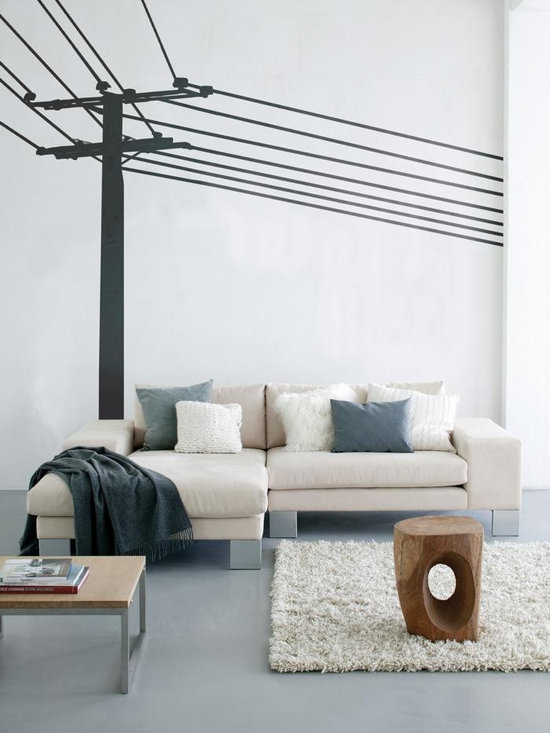 Ferm Living Powerpole WallSticker - With Ferm Living WallStickers it is easy to create a new look and change the style in a room in a matter of minutes. By using WallStickers, your kids can also help decorate their own room in an array of colors.