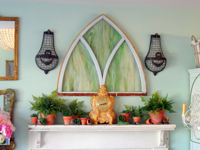 Spring Mantel eclectic