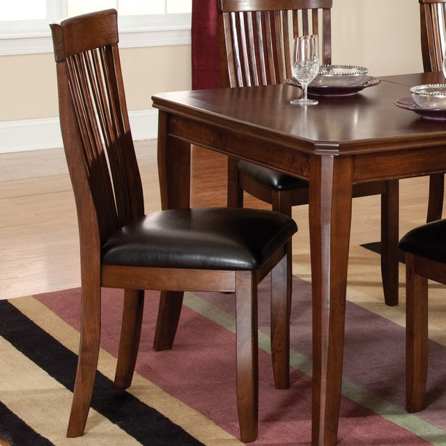 side chair in sienna brown set of 2 contemporary dining chairs