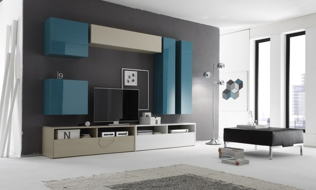 Modern Wall Unit Box Combi 11 by LC Mobili 165300