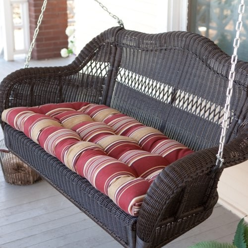 Coral Coast Casco Bay Resin Wicker Porch Swing with Optional Cushion Cardinal St contemporary-kids-playsets-and-swing-sets