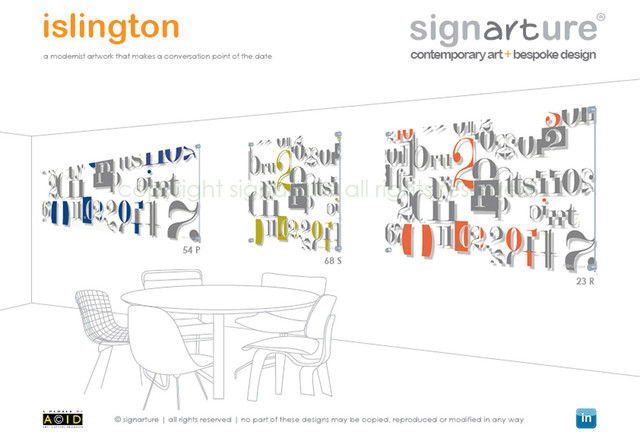 signarture 'islington' perspex artworks contemporary-originals-and-limited-editions