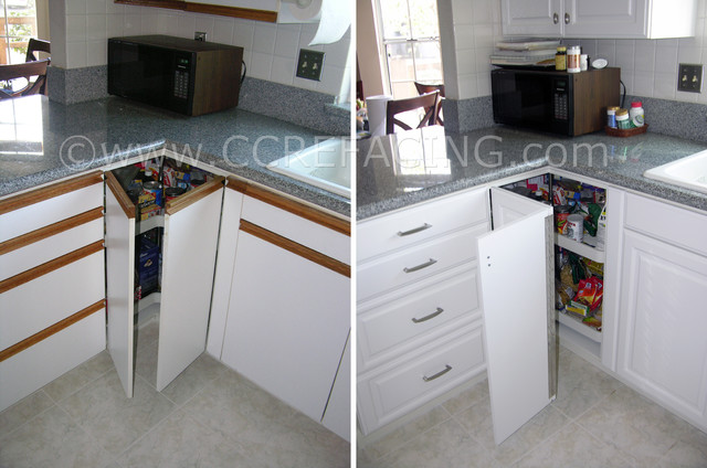 Danville Kitchen Refront with Thermofoil doors 1 (before & after) - san francisco - by Custom ...