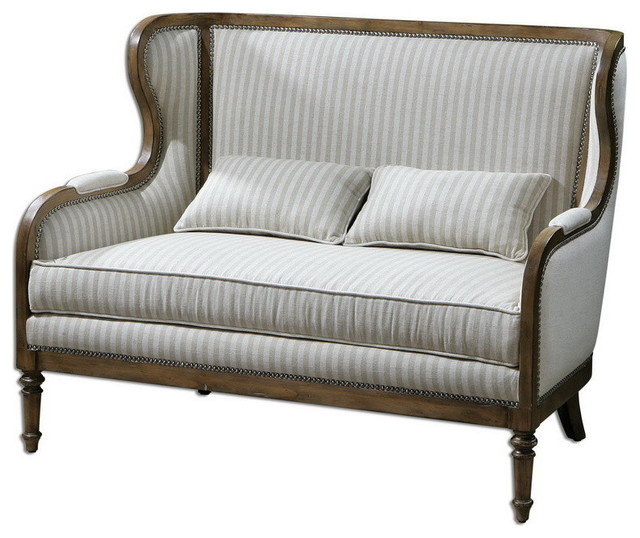 Uttermost 23160 Neylan High Back Loveseat - Traditional - Sofas - by Eager House