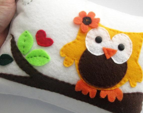 Owl Pillow, cute owl pillow decor contemporary-decorative-pillows