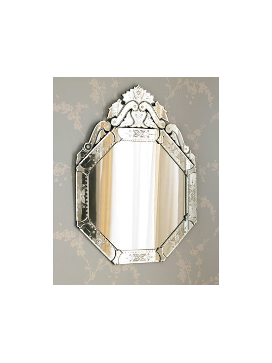 """Horchow - Vasari Mirror - Exclusively ours. Octagonal Vasari wall mirror is framed with smaller mirrors featuring hand-etched detailing. 30""""W x 1""""D x 39.75""""T. Imported. Boxed weight, approximately 35 lbs. Please note that this item may require additional delivery and pro..."""