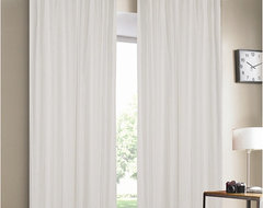 Luxury Linen White Lined  Curtain Panel contemporary curtains