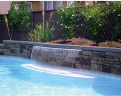 Jandy Sheer Descent 3' Waterfall tropical-hot-tub-and-pool-supplies