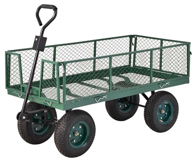 Sandusky Carts & Wheelbarrows 5 cu. ft. 24 in. W Utility Cart CW4824 ...