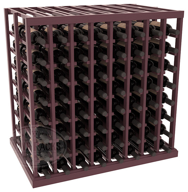 Double Deep Tasting Table Wine Rack Kit in Pine with Burgundy Stain + Satin Fini contemporary-wine-racks