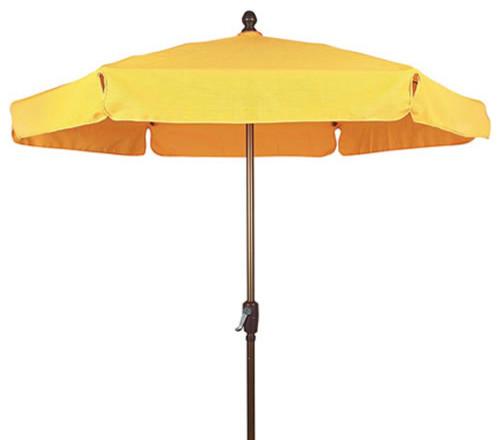fiberbuilt umbrellas 7 5 foot hexagonal yellow aluminium