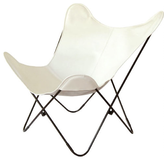 Steel Butterfly Chair Original The Sharon Butterfly Chair Big BKF Leather .