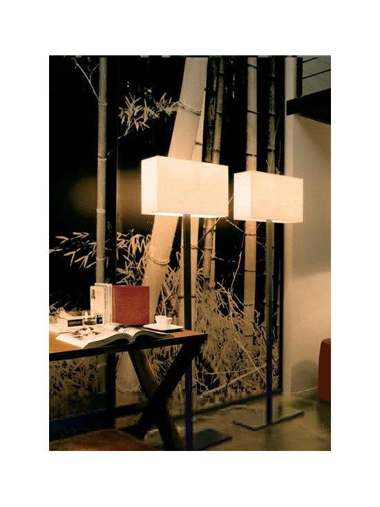 TOSCA FLOOR LAMP BY PENTA LIGHT - The Tosca floor lamp is an elegant rectangular floor