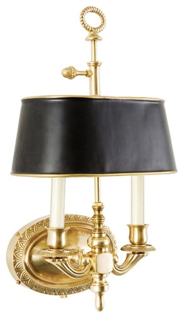 Frederick Cooper Demetrius Antique Brass Plug-In Wall Sconce - Traditional - Wall Sconces - by ...