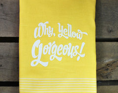 Why Yellow Gorgeous Yellow Flour Sack Towel by B.Haven contemporary-dish-towels