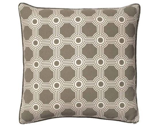 Galloway Trellis Grey Pillow -