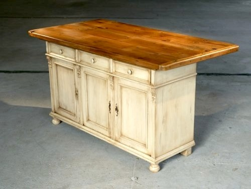 white 6 ft country pine kitchen island farmhouse