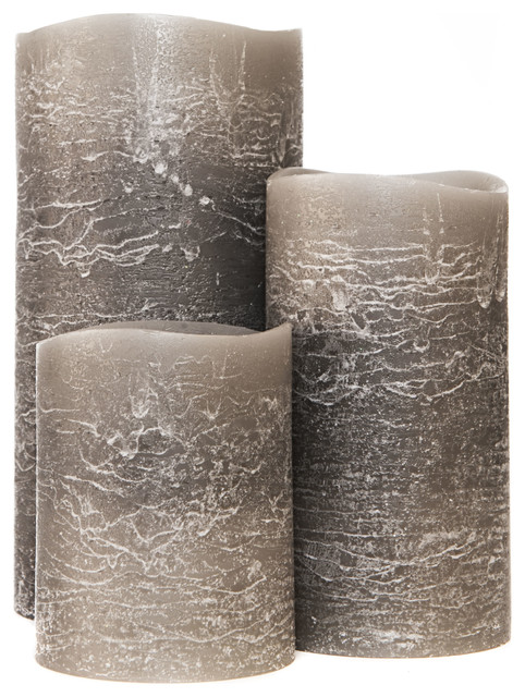 Distressed Grey Flameless Candles Candles Other Metro