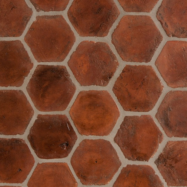 Spanish terracotta tiles stained light walnut Spanish clay tile