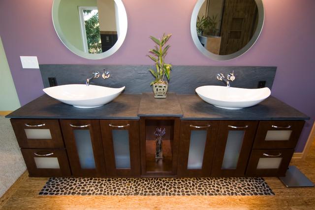 Spa retreat asian bathroom grand rapids by for Bathroom cabinets grand rapids mi