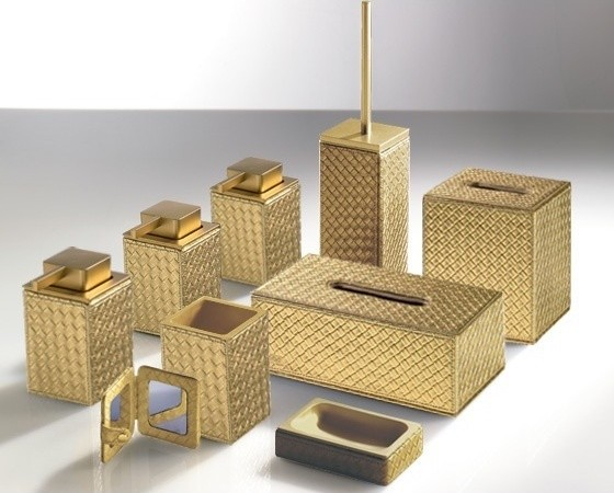 Marrakech gold bathroom accessories contemporary for Contemporary bathroom accessories