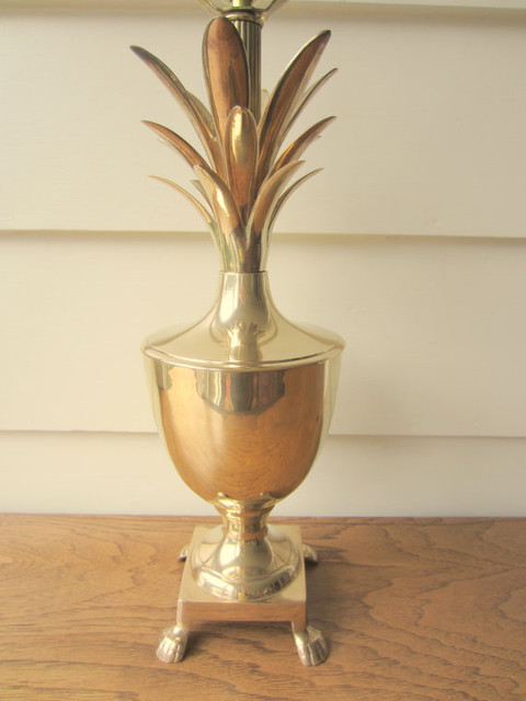 Hollywood Regency Brass Pineapple Lamp by Model Vintage eclectic-table-lamps