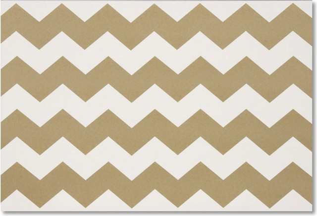 Chevron Paper Placemats Modern Placemats By Layla Grayce