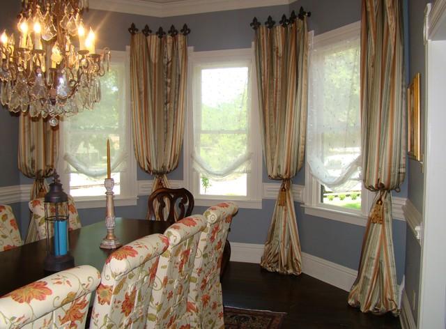 Custom Drapery Panels Traditional Window Treatments