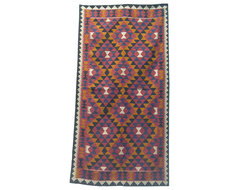 Afghan Hand-Woven Kilim Rug contemporary-rugs