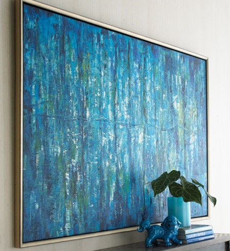 Blue Jinlu Painting Contemporary Artwork By Horchow