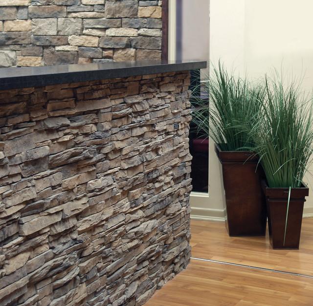 Stone Veneer Exteriors contemporary