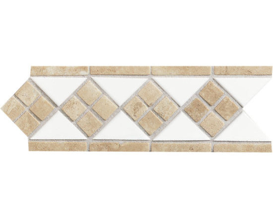 Designer Elegance Natural Stone White/Ice Travertine Accent -