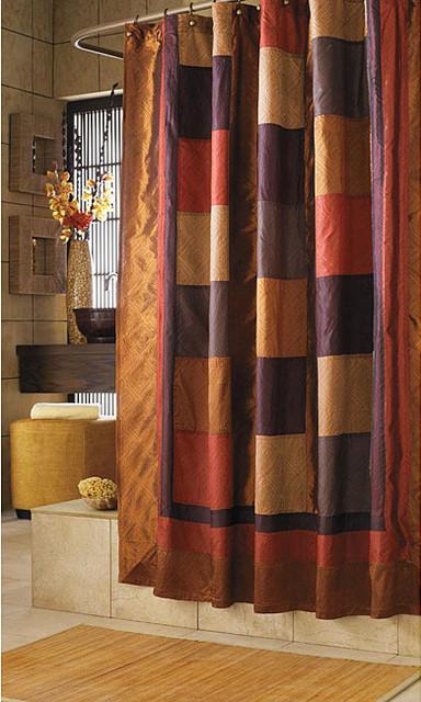 Kashmir Multicolor Southwestern-style Nylon/Polyester Shower