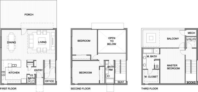 Cube House Floor Plan Austin By Reach Architects