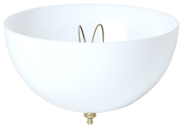 Contemporary White Acrylic Dome Clip-On Ceiling Shade - Contemporary - Lamp Shades - by Lamps Plus