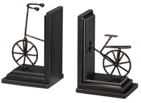 Bronze Finish Bicycle Bookends transitional-bookends