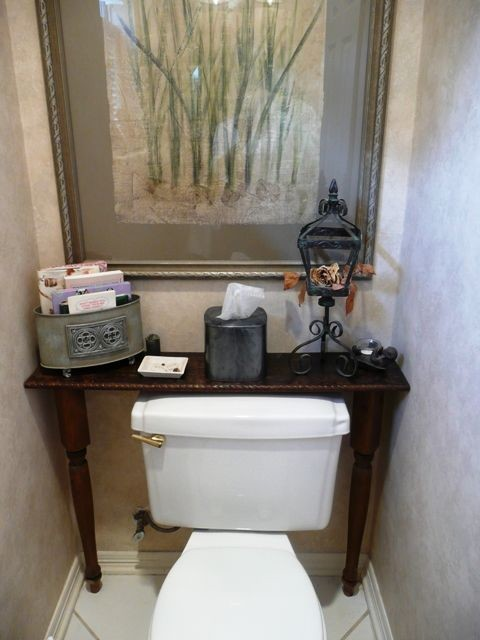 Small custom table behind toilet transitional side for Small bathroom accent tables