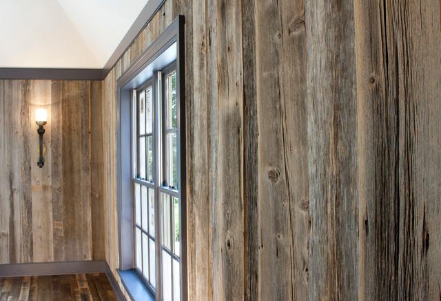 Barnboard Paneling traditional-hardwood-flooring