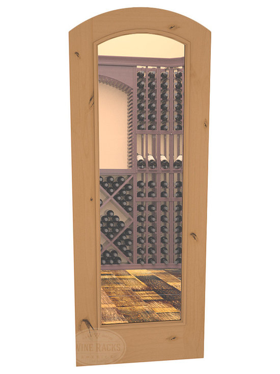 CellarSelect™ Wine Cellar Door: Malbec Full Lite (Oak Stain with Lacquer) -